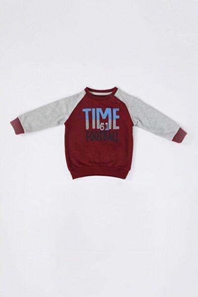 TSCLUB Unisex Bebek Bordo Time 61 Sweatshirt