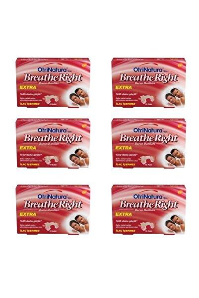 Breathe Right Ekstra Burun Bandı Normal Boy 10 Adet 6 Lı Paket