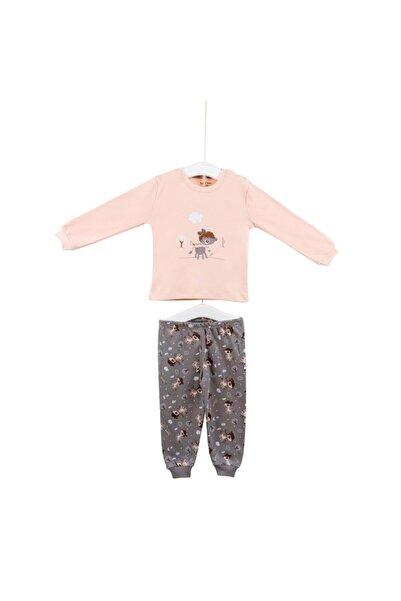 """Aziz Bebe 9431 Kız Bebek """"ceylan"""" Baskılı Penye Pijama Takımı"""