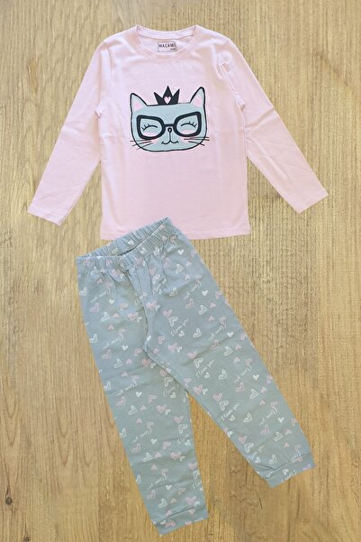 Macawi Kedili Heyyo Kids Kız Pijama Takımı