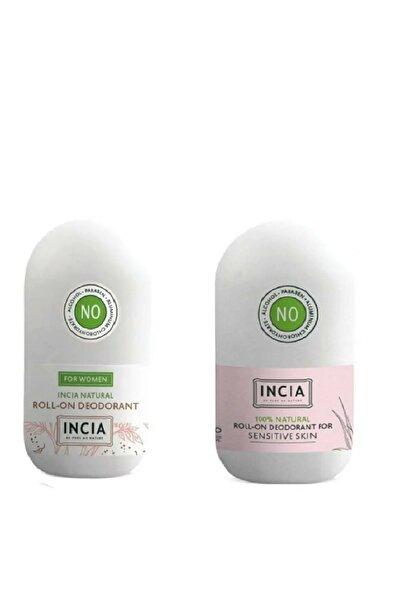Incia Doğal Roll-on Deodorant Kadınlar Için + Sensitive 2'li Set