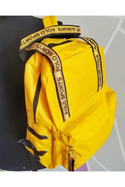 Polo Sport Kadın Sarı Sırt Ve Laptop Bölmeli Çanta