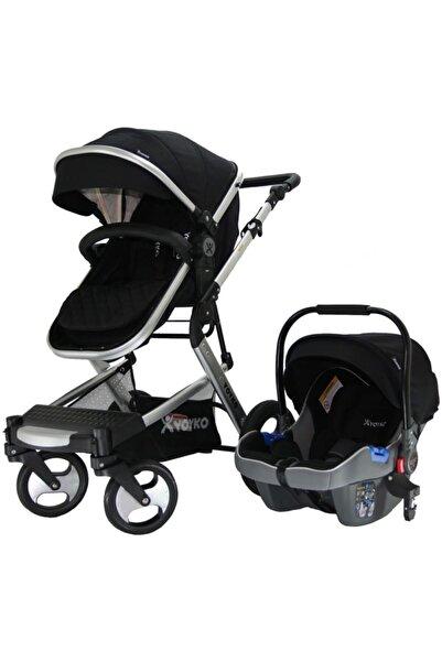 YOYKO Elegance Travel Sistem Siyah Silver Bebek Arabası 3 In 1