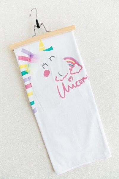 Babymod Bebek Unicorn Baskılı Çift Kat Penye Battaniye