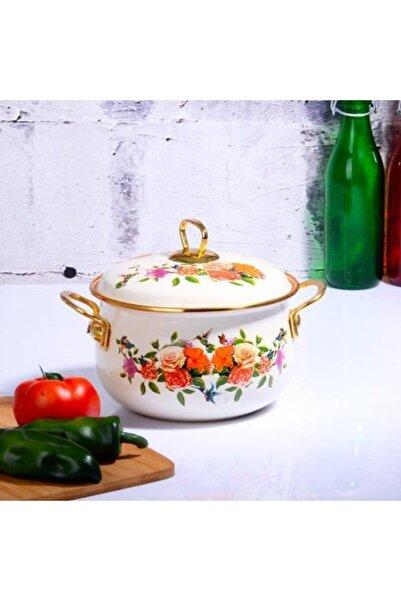 Kosova Emaye Bakraç 18 cm Flower