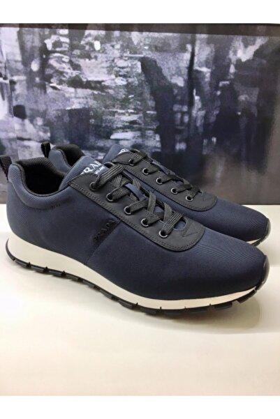 Prada Sport Erkek Lacivert Sneaker Spor Ayakkabı