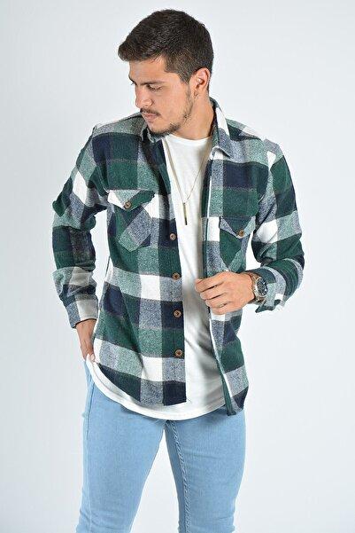 Terapi Men Erkek Kareli Oduncu Gömleği 20k-4300551 Yeşil