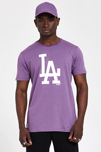 NEW ERA Erkek Mor Los Angeles Dodgers  T-shirt