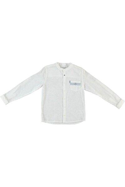 Monna Rosa Erkek Çocuk Beyaz Keten Gömlek