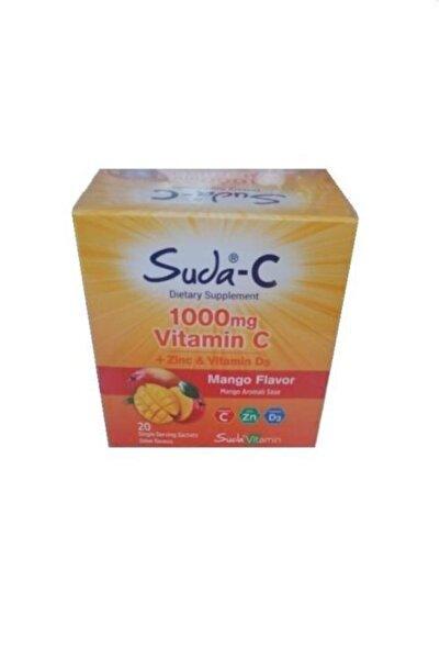 Suda Care Suda-c Vitamin C + Zinc + Vitamin D3 1000 mg Mango Aromalı 20 Saşe Şeker İlavesiz