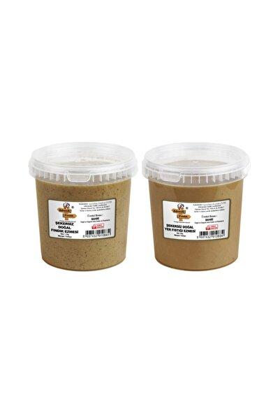 AdressFındık Şekersiz Yer Fıstığı- Şekersiz Fındık Ezmesi Paketi 1+1=2 Kg