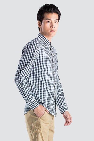 Levi's Erkek Mavi Kareli Cepli Gömlek