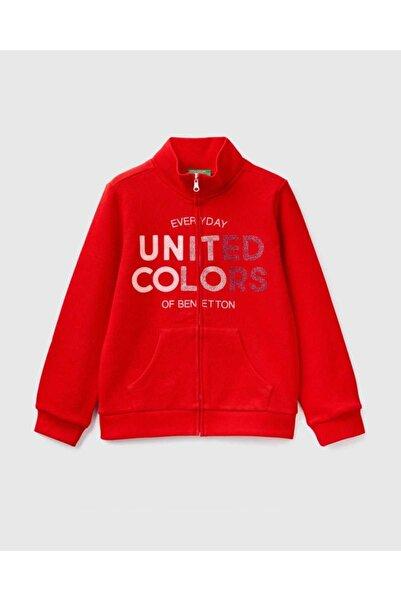 United Colors of Benetton Kız Çocuk Kırmızı Sweatshirt