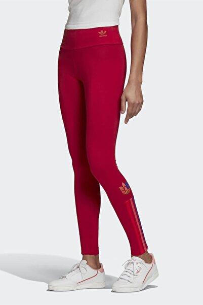 adidas Kadın Kırmızı Günlük Giyim Tayt Tights Gd2240