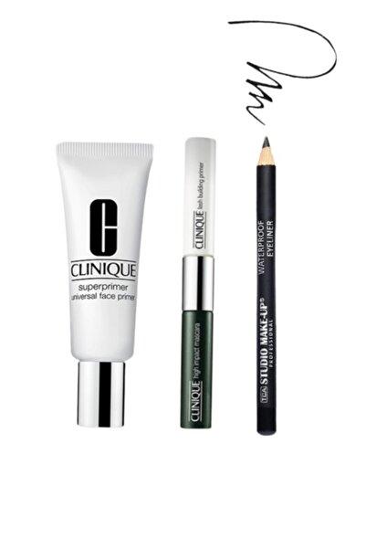 Clinique Superprimer Makyaj Bazı + High Impact Primer & Maskara + Tca Eyeliner