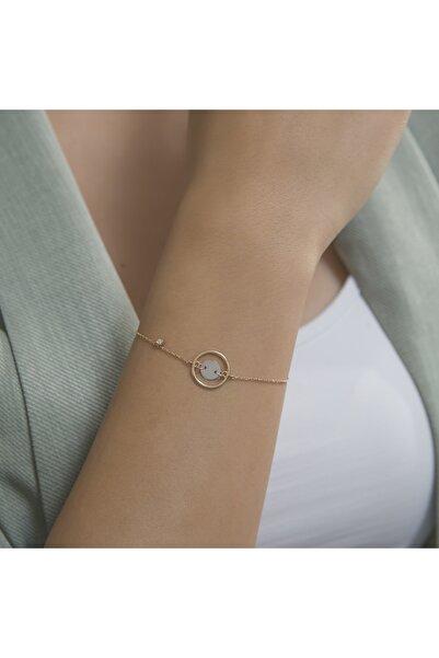 Gianni Diamond Rose Altın Pırlantalı Tasarım Bilezik 18 Ayar