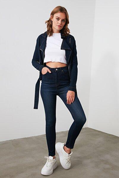 TRENDYOLMİLLA Mavi Yüksek Bel Skinny Jeans TWOAW21JE0381