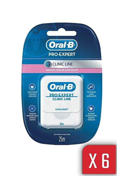 Oral-B Pro Expert Clinic Line Diş Ipi 25m -  6 Adet