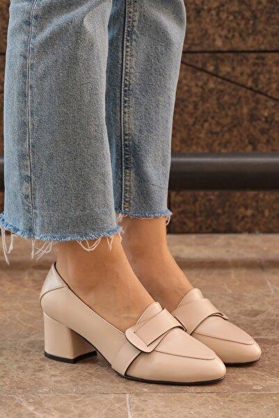 Mio Gusto Romy Krem Renk Topuklu Ayakkabı