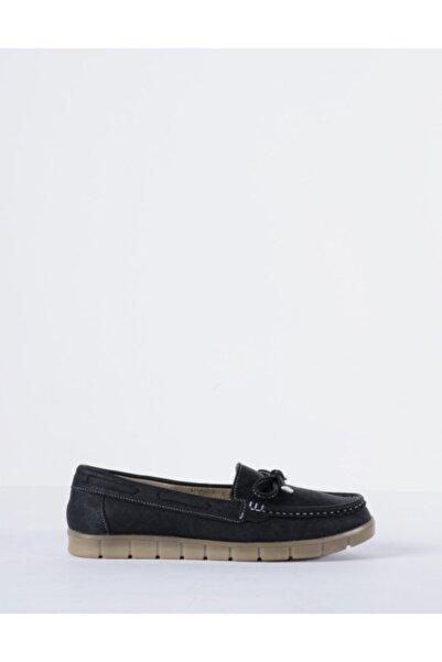Vision Kadın Siyah Loafer Ayakkabı