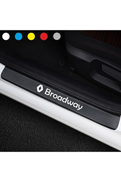 bys Renault Broadway Için Karbon Kapı Eşiği Sticker ( 4 Adet )