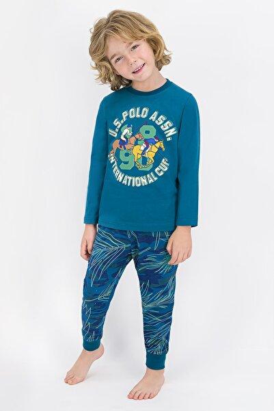 U.S POLO U.s. Polo Assn Lisanslı 704 Koyu Petrol Erkek Çocuk Pijama Takımı
