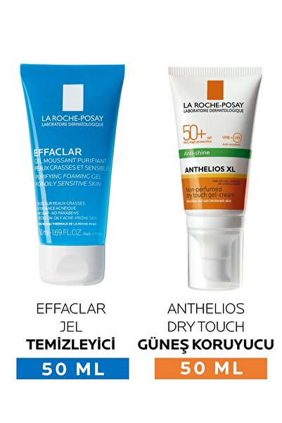 La Roche Posay Anthelios Anti-shine Spf 50 50 ml + Effaclar Gel 50 ml Hediyeli