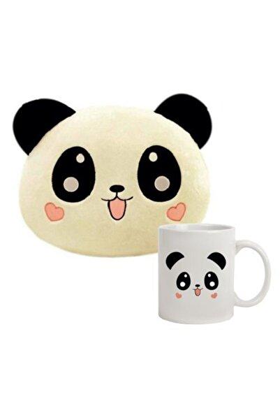 hediyerengi Panda Yastık Ve Panda Kupa Bardak Seti
