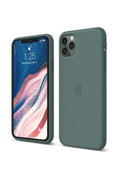 cepsesuar Apple Iphone 11 Pro Max Yeşil Lansman Altı Kapalı İç Kısım Kadife Kılıf