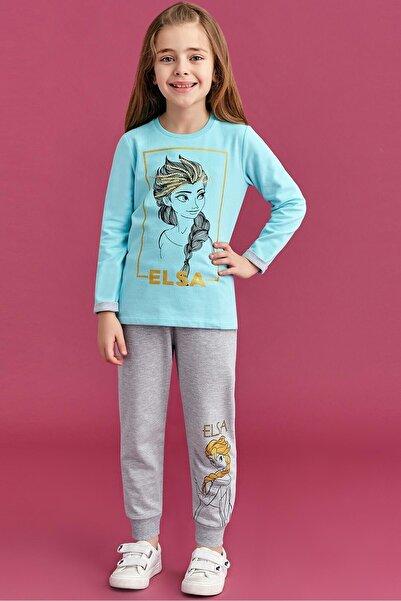 Disney Frozen Kız Çocuk Mavi Eşofman Takımı