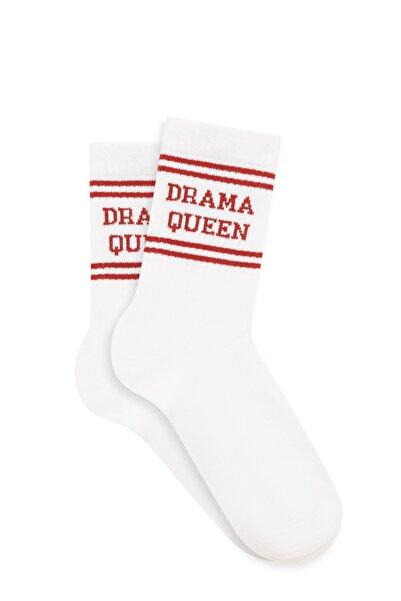 Mavi Kadın Beyaz Soket Çorap 197968-620
