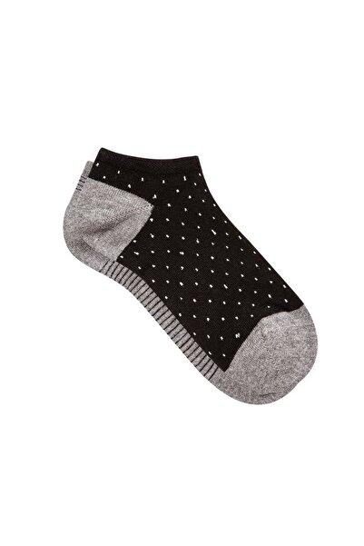 Mavi 2li Siyah Patik Çorap Seti