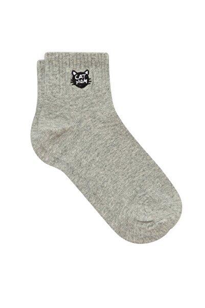 Mavi Kadın Gri Soket Çorap 197986-32302