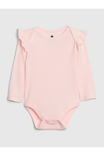 GAP Kız Bebek Pembe Uzun Kollu Body