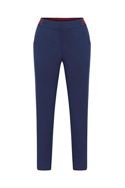 Mudo Kadın Lacivert Straıght Beli Lastikli Pamuklu Pantolon 1214576