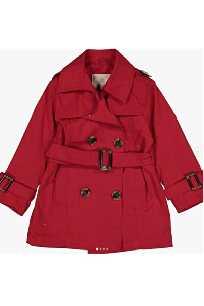 Verscon Kız Çocuk Kırmızı Trençkot