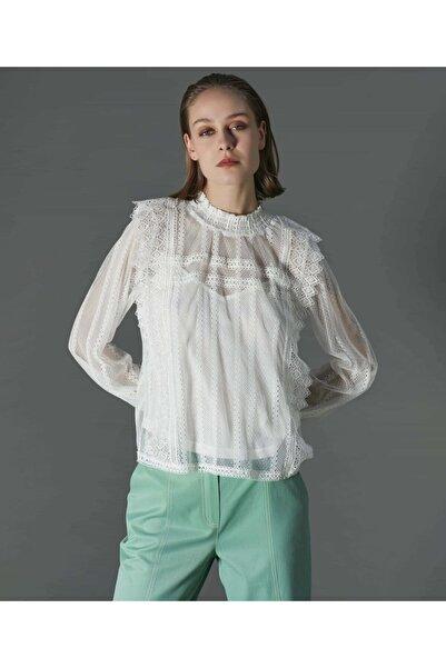 İpekyol Kadın Beyaz Dantel Bluz