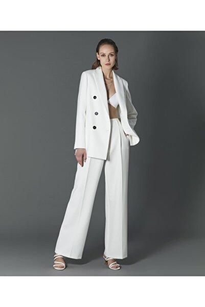 İpekyol Kadın Beyaz Yüksek Bel Pantolon