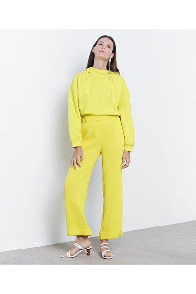İpekyol Kadın Sarı Double Paça Pantolon