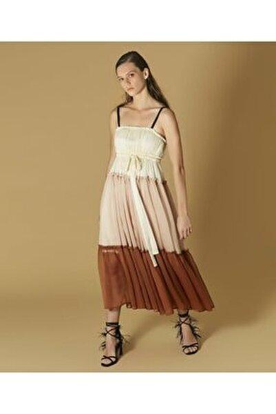 Kadın Pembe Renk Geçişli Elbise