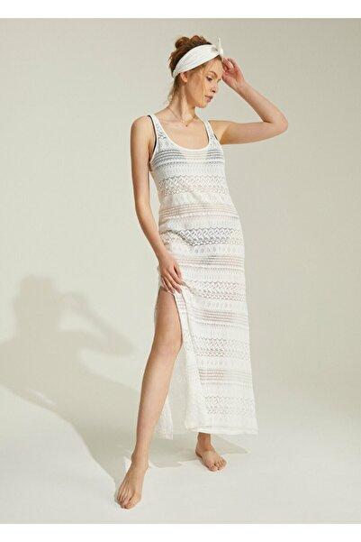 SUWEN Kadın Ekru Plaj Elbisesi