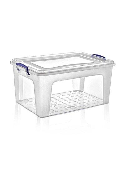 Dünya Plastik 27 lt Derin Clear Box Saklama Kutusu