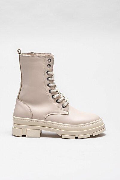 Elle Shoes Kadın Pompey Bej Bot & Bootie 20KAD3434-04