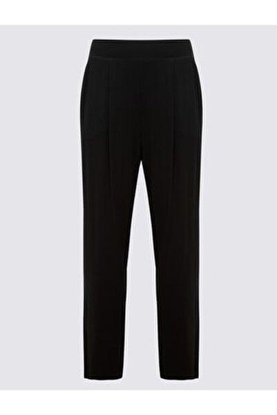 Kadın Siyah Jarse Tapered Pantolon T57006622H