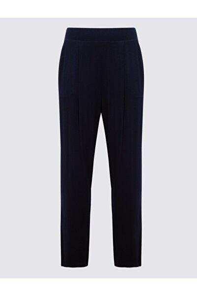 Marks & Spencer Kadın Lacivert Jarse Tapered Pantolon T57006622H