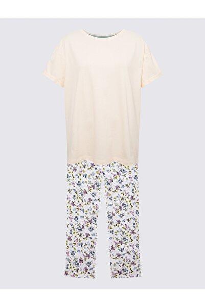 Marks & Spencer Kadın Mavi Kısa Kollu Pijama Takımı T37004402X