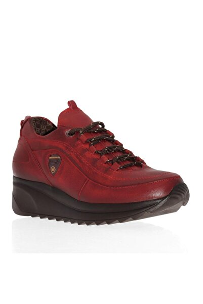 Mammamia D20ka-400 Dolgu Topuk Deri Kadın Ayakkabı