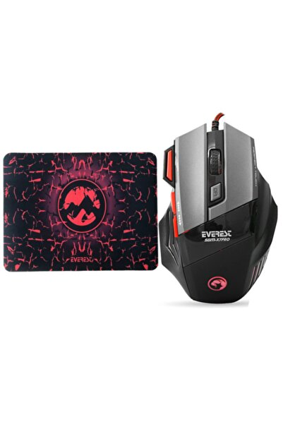 Everest Sgm-x7 Pro 7200dpi Gaming Oyuncu Mouse + Mouse Pad Hediyeli