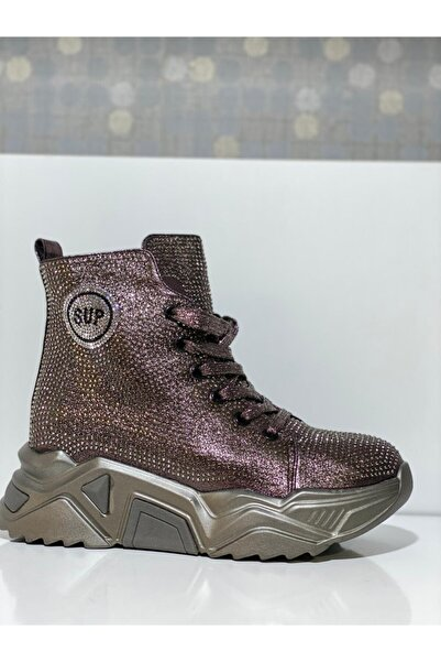 Guja Gri Taşlı Sneakers 20k339-2