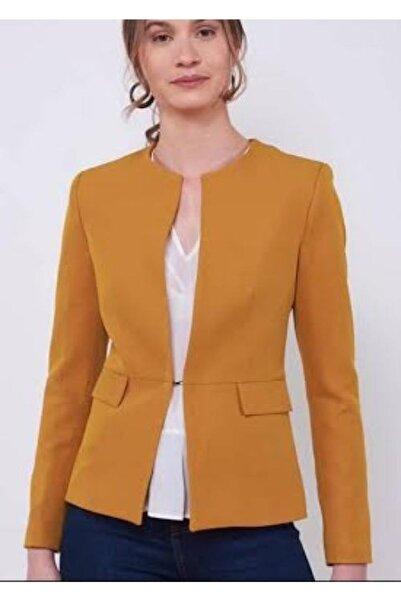 Ashley Kadın Sarı Klasik Ceket
